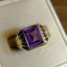 yellow gold Art-Deco Amethyst ring - $167.31