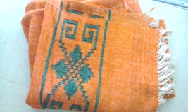 excellent very old hand-loom 100% WOOL blanket, rug, tapestry - $60.00