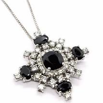 Necklace Silver 925, Chain Venetian, Pendant Pendant Snowflake, Zircon image 1