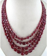 OLD NATURAL RED SPINEL BEADS LONG 4 LINE 417 CARATS GEMSTONE COLLECTOR N... - $3,610.00