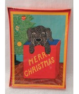 Black Dog In Christmas Gift Bag 12 cards Stephen Huneck  Labrador Retrie... - $59.99