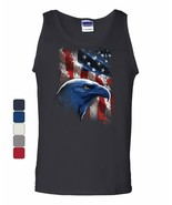 American Bald Eagle Tank Top American Flag 4th of July Patriotic Sleeveless - $12.90+