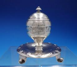 Georg Jensen Early 830 Silver Inkwell #142 Art Nouveau Floral Motif (#4596) - $2,750.00