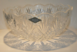 SHANNON OF IRELAND CRYSTAL DESIGNS 24% LEAD CRYSTAL SERVING BOWL NWT NEW... - $39.99