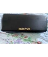 New Authentic Roberto Cavalli Black Sunglasses Glasses Case With Cleanin... - $12.22