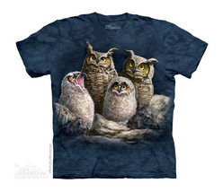 New OWL FAMILY YOUTH CHILD  T SHIRT - - $14.99