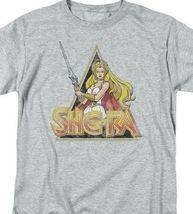 She-Ra Princess of Power Retro 80's Cartoon series gray graphic t-shirt DRM102C image 3