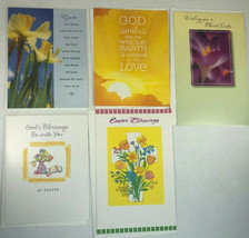 EASTER Greeting Cards Assorted Lot of 5 American Greetings Pacific Graphics - $9.89
