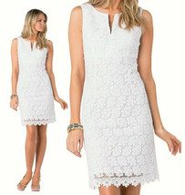 $368 Lilly Pulitzer Daena White Truly Bumble Bee Floral Lace Shift Dress - $193.50