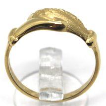 Gelbgold Ring 750 18K, Santa Rita, Handcreme, Poliert und Matt, Italien Made image 3