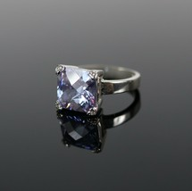 Vintage .925 Sterling Silver Signed FAS Multi-Facet Solitaire Size 5.5 R... - $20.35