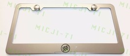 Buick Logo Stainless Steel License Plate Frame Holder Rust Free - $12.99