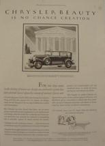 "1929 Chrysler ""75"" Royal Sedan  ""Chrysler Beauty is No Chance Creation"" Print Ad - $9.99"