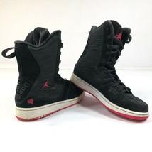 Nike Jordan Flight 23 Womens 8.5 Girls 7Y Black Pink High Tops 331944-061 - $46.75