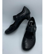 Taos Womens 10 Dutchess Black Leather Mary Jane Low Heel Shoes - $26.99
