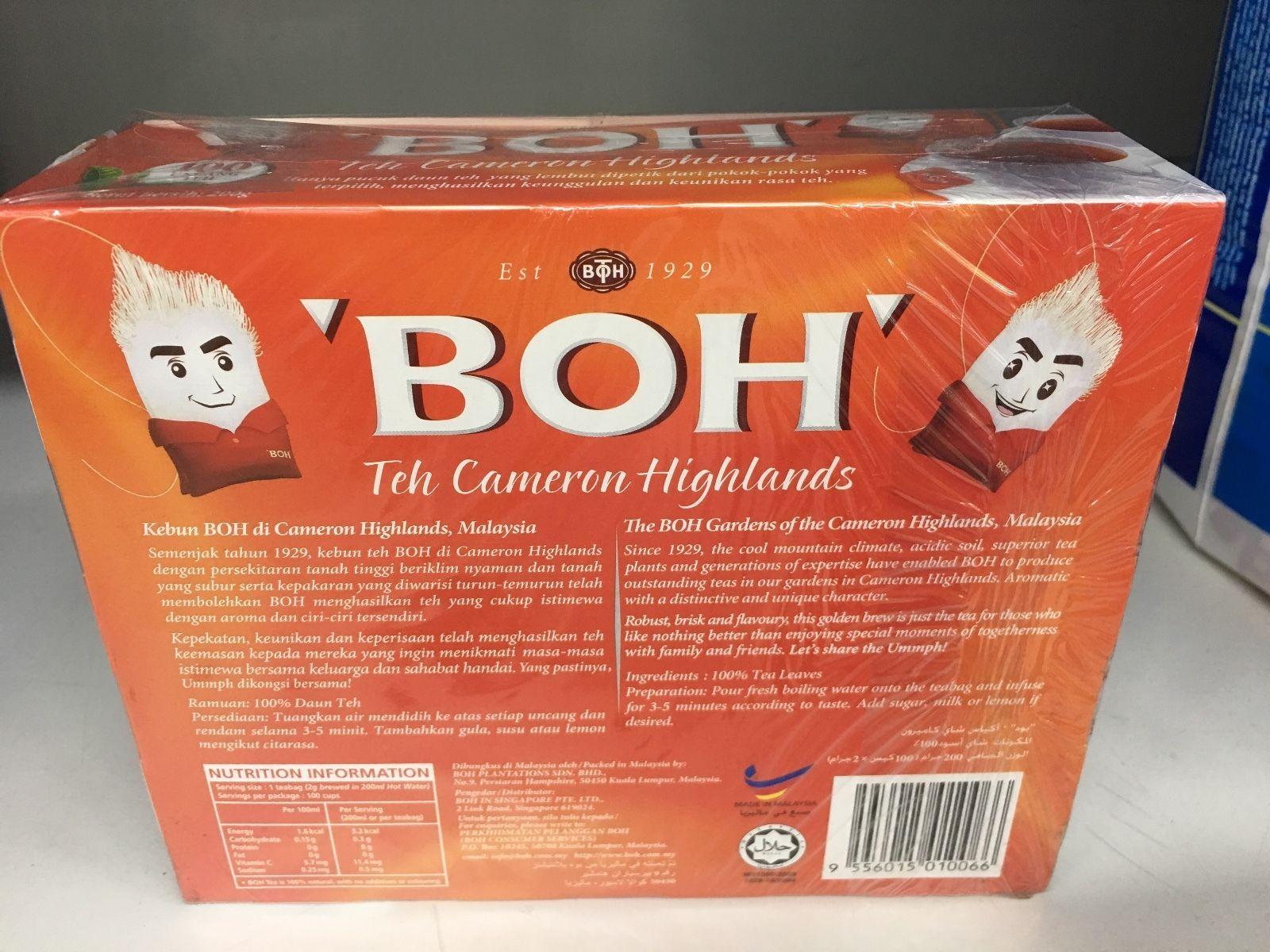 Malaysia BOH Cameron Highlands Tea - 100 teabags 100g