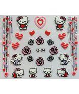BANG STORE Nail Art 3D Decal Stickers Hello Kitty Hearts Stars Roses Val... - $3.15