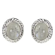 Gorgeous Look Oval Rainbow Moonstone Gemstone Bridesmaid Stud Earring - $17.93