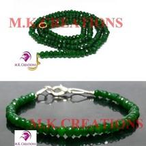"dyed green jade 3-4mm Beads Beaded 32"" Necklace 7"" Bracelet Jewelry Set - $25.95"