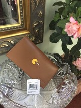 New Coach Wallet Saddle Brown Pac-Man Leather Phone  F56056 W26 - $96.74
