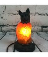 Art Deco Amber Art Glass Resin CAT Figure Table Lamp Night Light up Mid ... - $54.40