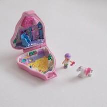 Polly Pocket Pink Horse Case Doll White Horse Vintage 1995 - $44.54