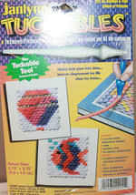 Janlynn Tuckables 22-55 Balloon + Fish Textured Pictures in Yarn Craft Kit Board - $18.14