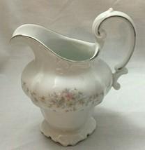 Vintage Footed Creamer by Johann Haviland Floral Splendor Pastel  - $20.30