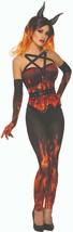 Forum Neuheiten Dämonen & Devils Fire Korsett Erwachsene Damen Halloween... - $24.22