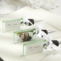 22 photo place card holder wine bottle stopper wedding favor bridal show... - $46.88