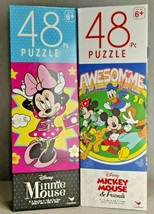 Disney Mickey Mouse 2 Puzzles Lot - 48 Piece for Each Kids Puzzle Toy Gr... - $11.74