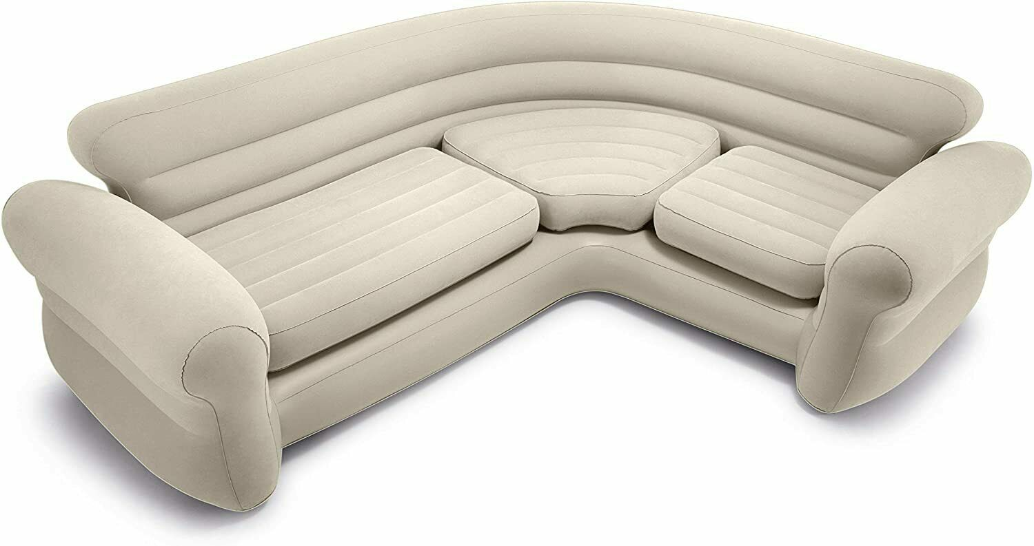 Intex 68575N, Sofa Nook Inflatable 257x203x76 CM Colour Cream For 4 People - $386.14