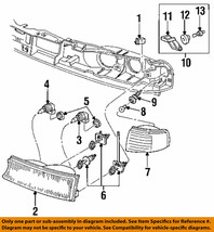 FORD OEM 95-97 Contour-Parking Light Left F5RZ13201A - $20.25