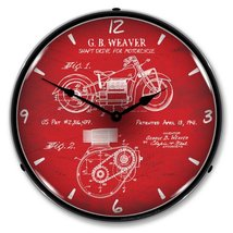 1941 Indian Motorcycle Backlit Wall Clock - $129.95