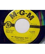 Tommy Edwards-My Melancholy Baby / It's Only The Good Times-45rpm-1959-VG+ - $7.43