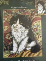 Kitty Cat On A Pillow Picture Counted Cross Stitch Candamar  Vanessa Adams 51149 - $10.07