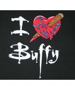 Buffy The Vampire Slayer TV Series I Heart Buffy Stake Adult T-Shirt Sma... - $14.50