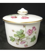 Minton Jam/Jelly With Cover * Pink & Blue Wild Flowers - $7.98