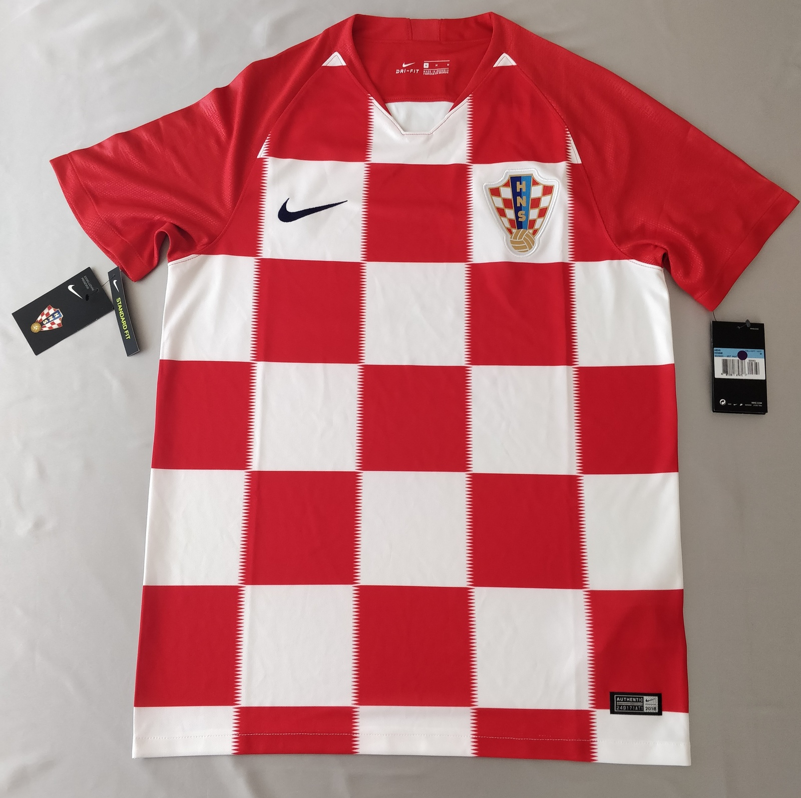 Primary image for Croatia Home Jersey 2018 Nike Fans Version %100 Original