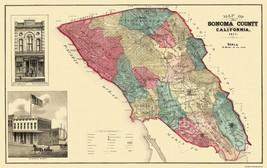 Sonoma  Santa Rosa California - Thompson 1877 - 36.56 x 23 - $36.95+