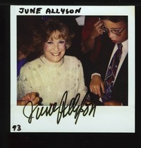 JUNE ALLYSON POLAROID PHOTOGRAPH SIGNED VERY RARE - $24.95