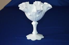 Fenton Milk Glass Rose Compote - $9.90