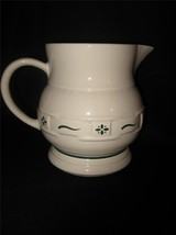 LONGABERGER POTTERY 64 OUNCE HERITAGE GREEN PITCHER - MADE IN USA! - $38.65