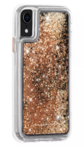 Case-Mate iPhone X Xs Gold Waterfall Clear Plastic Protective Phone Case NEW image 3