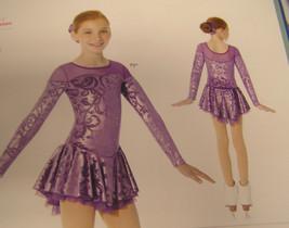 Mondor Model 2760 Girls Skating Dress - Purple P9 - Size 6x-7 - $70.13