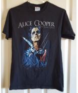 T-Shirt 2008 Alice Cooper Along Came A Spider Concert Adult S Black Rock... - $12.99