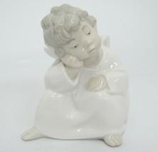 "Lladro Dreaming Angel Porcelain Figurine 4961 4"" Little Boy Excellent Co... - $49.49"