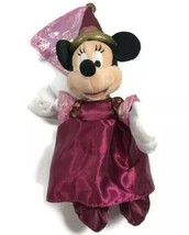 "Disneyland 50th Anniversary Minnie Mouse Plush Princess Dress Gown 12"" B... - $12.73"