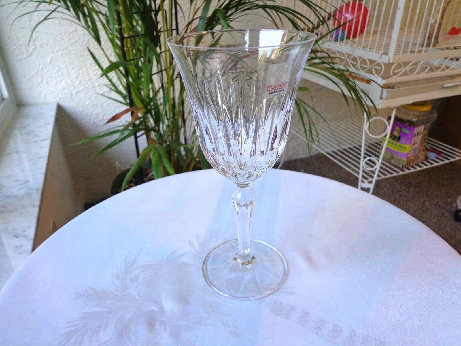 Bormioli Rocco Classic 1 Aida Pattern Clear Crystal White Wine Glass