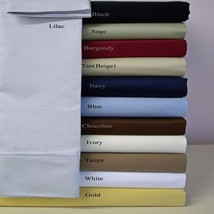 4 PCs Bedding Sheet Set 1200 TC Egyptian Cotton US Queen Size All Solid ... - $76.77
